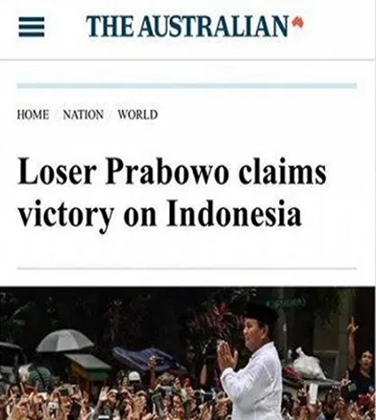 Media Australia Ledek Prabowo Dengan Sebutan Pecundang