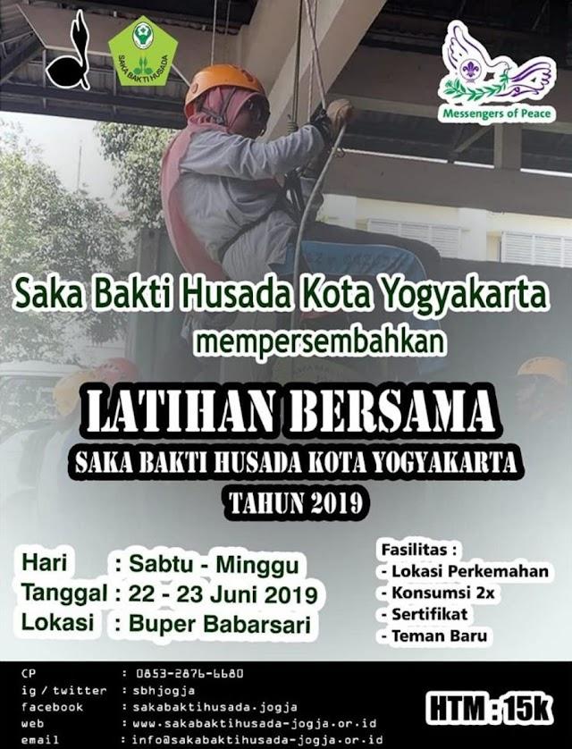 Latihan Bersama Saka Bakti Husada Kota Yogyakarta
