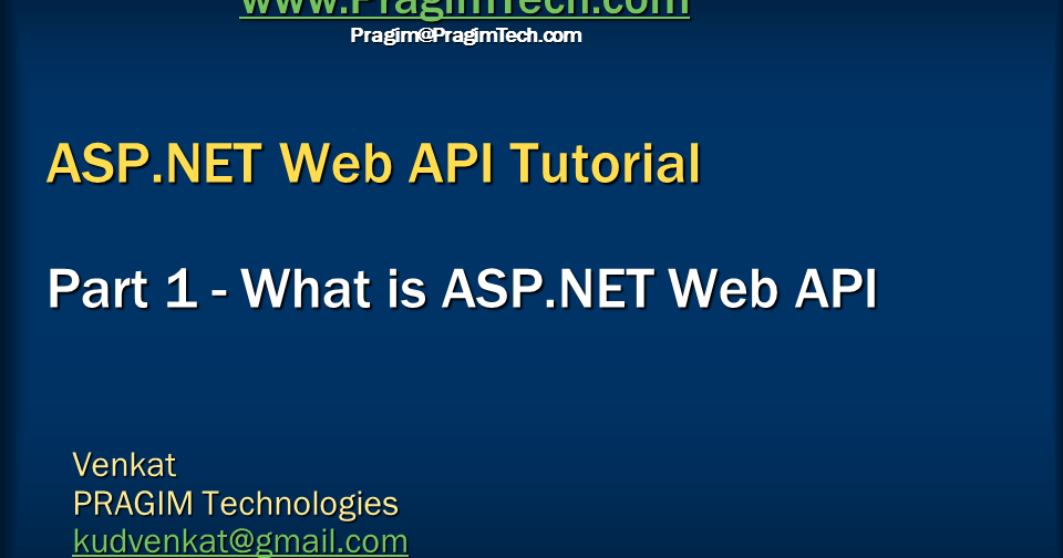 Sql server, .net and c# video tutorial: What is ASP.NET ...