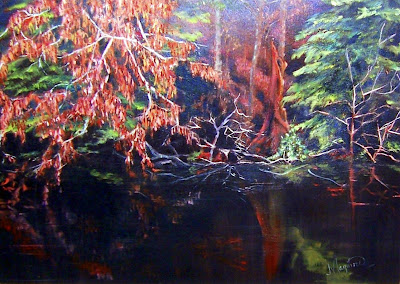 Oil on canvas 20 x 28, 1993  Private Collection, Brye and Leah Briggs  Ontario Canada. Timeless Expression by Maguire