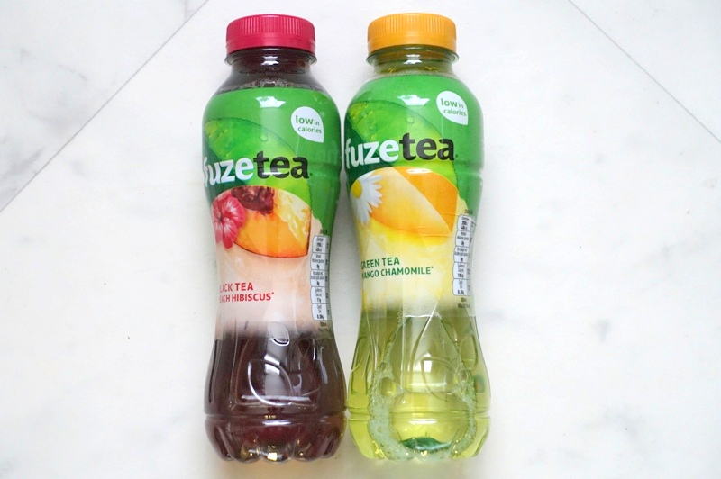 fuze tea black tea peach hibiscus green tea mango chamomile pet bottle 400 ml