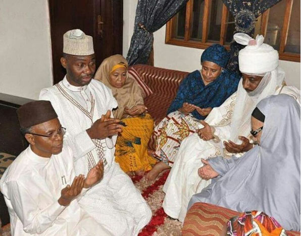 Gov El-Rufai, Emir of Kano pay condolence visit to Dasuki's home