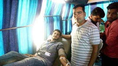 SNKP College में पं.दीनदयाल उपाध्याय जयंती पर आयोजित रक्तदान शिविर में 83 यूनिट रक्तदान