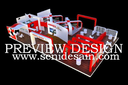 Jasa Desain Booth Pameran Kementrian Pariwisata Khas Indonesia Mini Garden Woderful