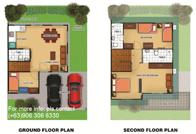 Chessa - Zone 2 Houses in Lancaster New City Cavite Floor Plan