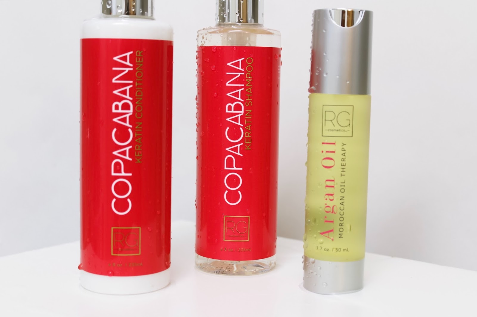 3 Products For Shiny & Voluminous Hair, RG Cosmetics, Copacabana, Keratin, Aragain Oil, hair products, shampoo, conditioner, hair care, healthy hair, beautiful hair, beauty products, aragon oil, moroccan oil