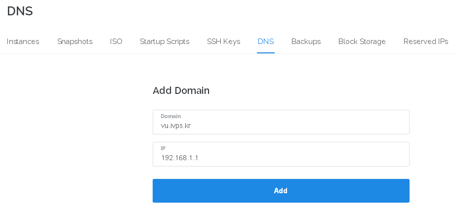 vultr.com dns add domain