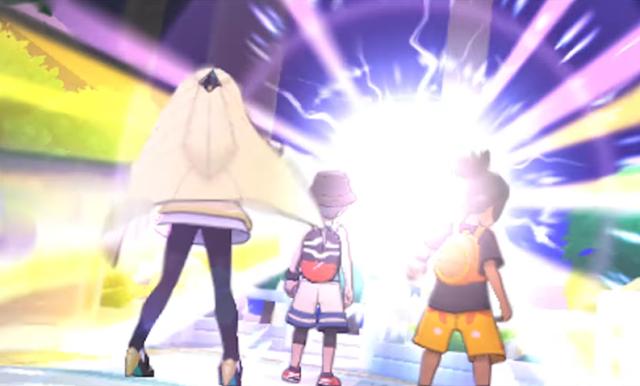 Pokémon Ultra Sun Moon Lusamine Hau Necrozma Prismatic Laser appearance cutscene