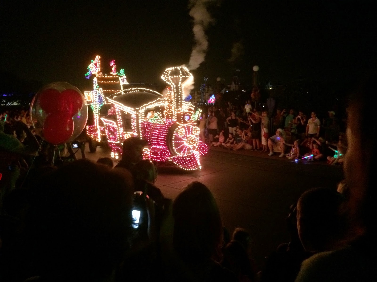 disney world light parade train