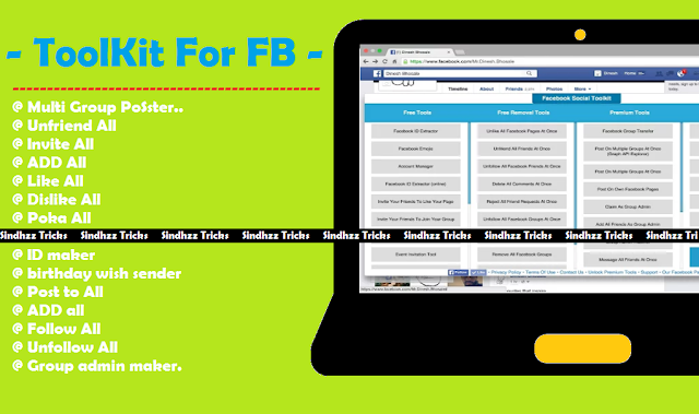Toolkit for FB - Facebook All Auto Tool/Tricks At One Place