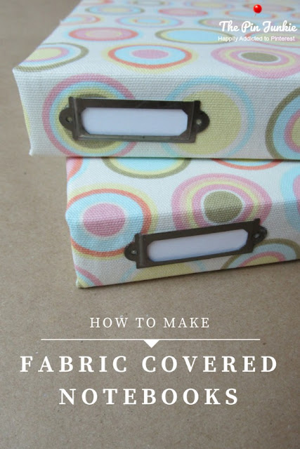 A simple DIY tutorial for making fabric covered notebooks. No paint, no measuring, no mess. Only takes a few minutes to complete. An inexpensive and stylish way to stay organized.