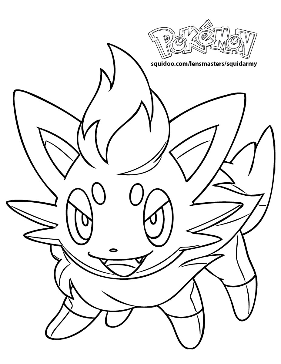 coloring pages of pokemon - pokemon coloring pages squid army