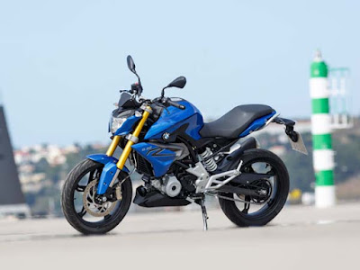 BMW G310R blue side angle HD picture