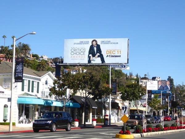 22nd Critics Choice Awards billboard