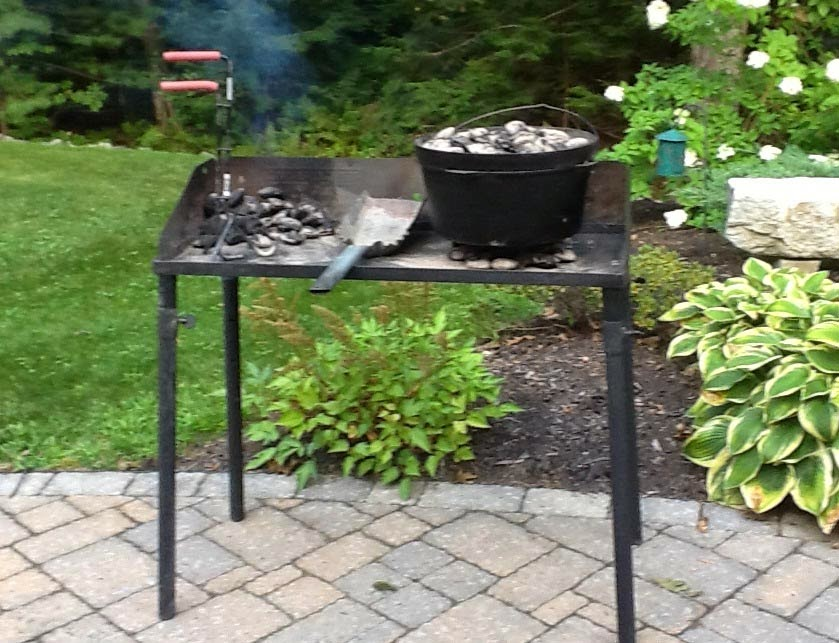Steel Cooking Table With And Vr 12 Lid Lifter