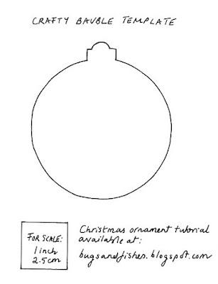 DIY Christmas bauble template