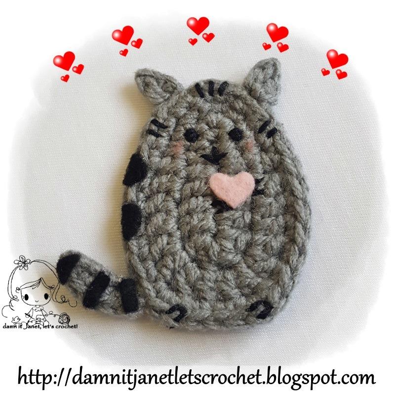 Damn It Janet Lets Crochet Pusheen The Cat Applique