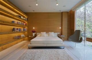 Paredes de madera en dormitorio