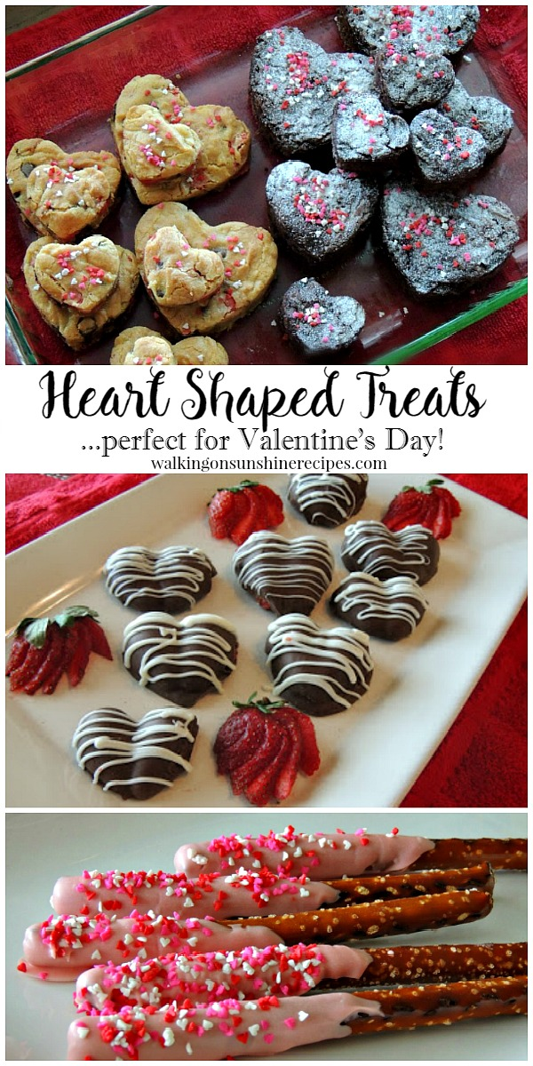 Heart Shaped Treats and Recipes for Valentine's Day - Thursday's Tip from Walking on Sunshine