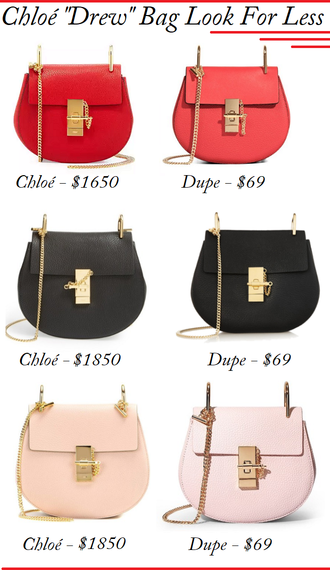 Chloe Look For Less, Chloé Bag Dupes, Chloé Drew Bag Lookalike, Chloé Drew For Less, Chloé Drew Dupe