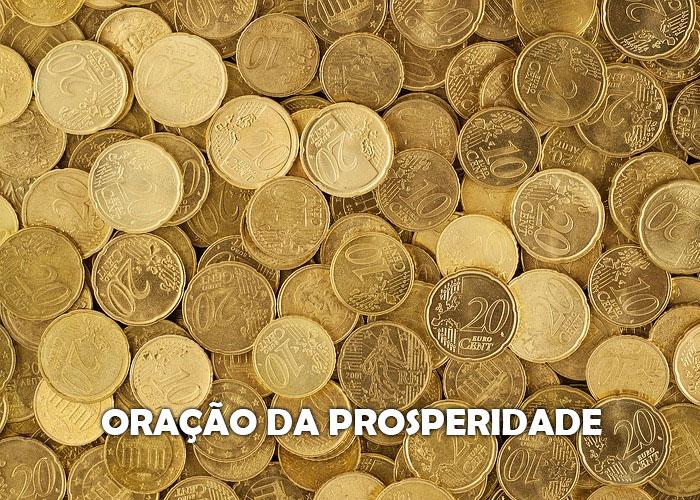oracao da prosperidade - varias moedas