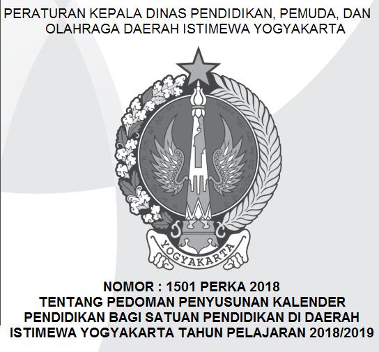 Kalender Pendidikan Daerah spesial Yogyakarta  KALENDER PENDIDIKAN TAHUN PELAJARAN 2018/2019 DAERAH ISTIMEWA YOGYAKARTA (DIY)