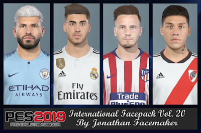 PES 2019 Facepack International vol 20 by Jonathan Facemaker