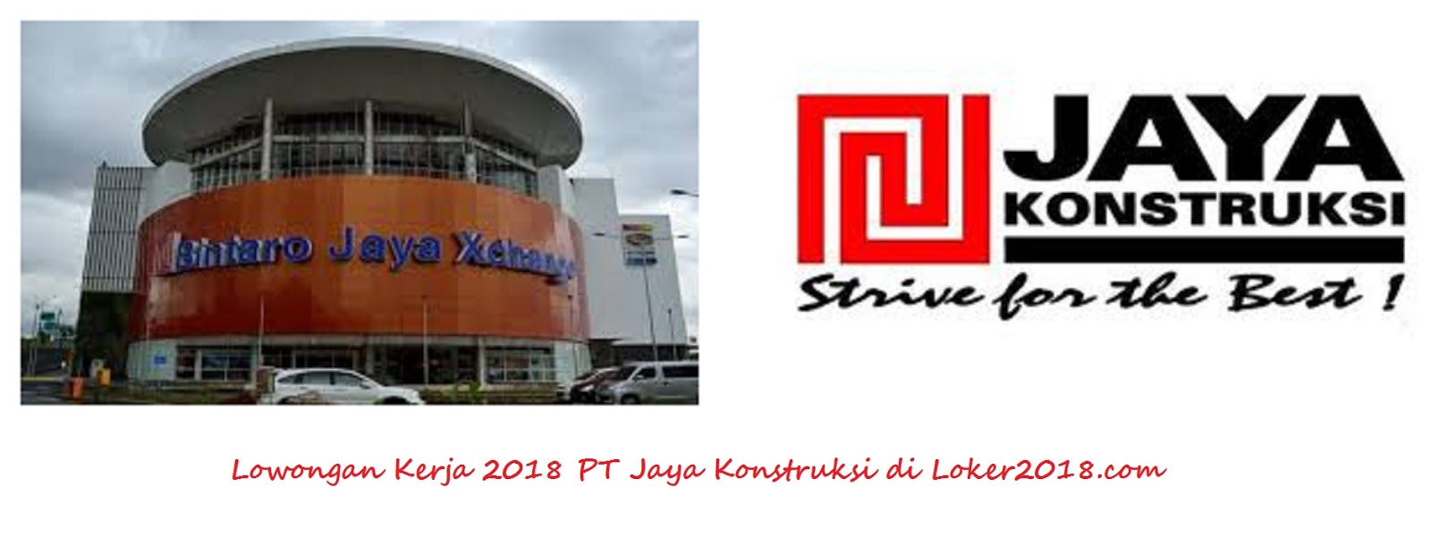 loker 2018 pt jaya konstruksi