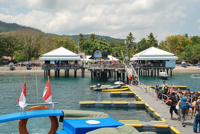 Puerto en la isla de Lombok
