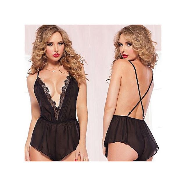 Pyjamas sexy vêtements de nuit pour les femmes Transparent  74286d21364