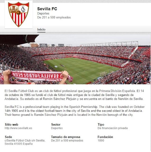 El Sevilla busca sponsors a través de Linkedin...