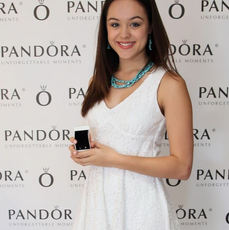 Hayley Orrantia Looks Hot in White Dress