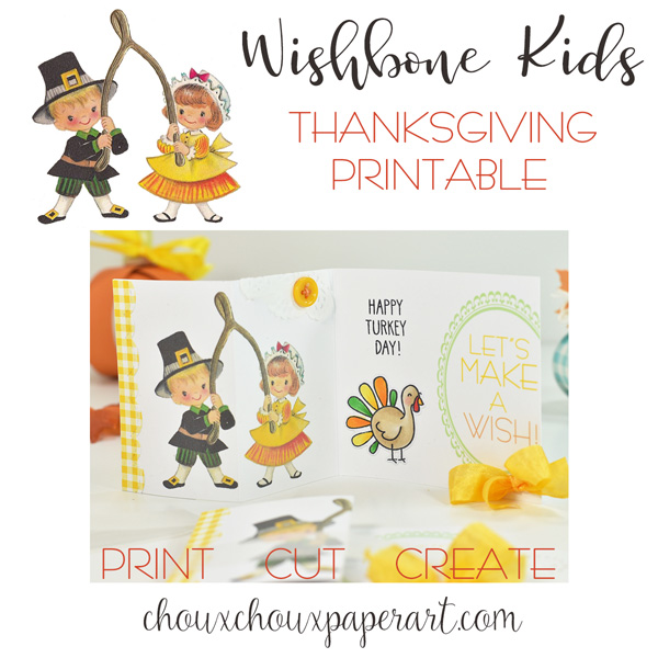 Fall Scarecrow and Vintage Wishbone Kids