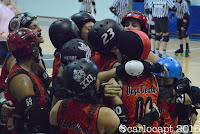 Crimson Vipers, squadra di Bergamo Roller Derby stracciano le Breaking Bears di Berlino foto di Carlo Capotorto