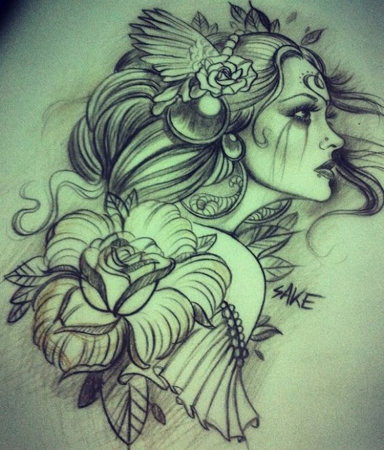 Beautiful Gypsy Tattoo Designs