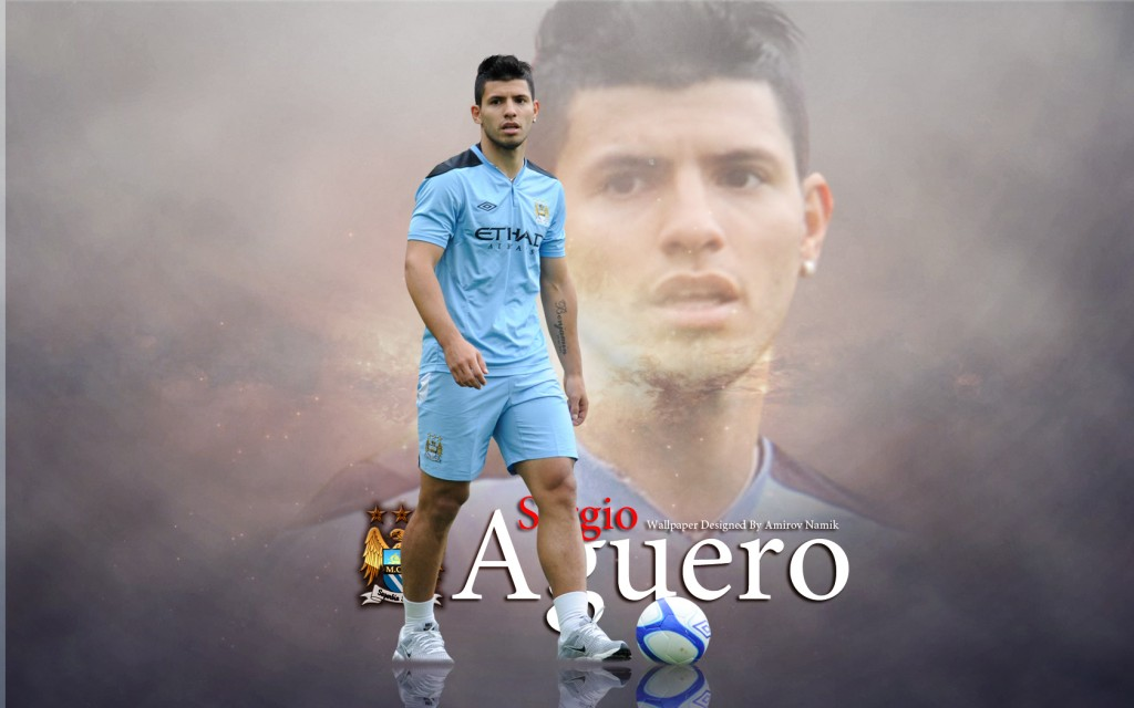 Kun Aguero Wallpaper Manchester City Fc: Sergio Kun Aguero Wallpaper Manchester City FC