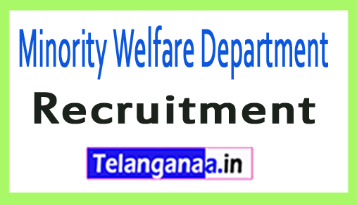 Minority Welfare Department Recruitment