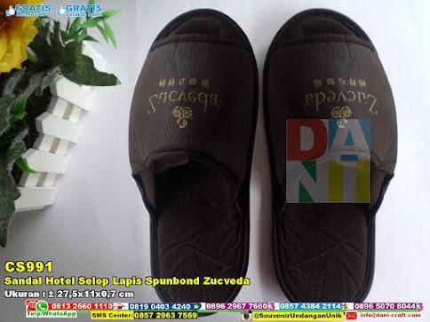 Sandal Hotel Selop Lapis Spunbond Zucveda
