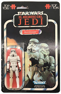 Stormtrooper TOP TOYS card - El Regreso del Jedi - Argentina