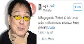 2qZ1S0C Veteran Comedian Joey De Leon asks the netizens: Anong Problema sa Martial Law?