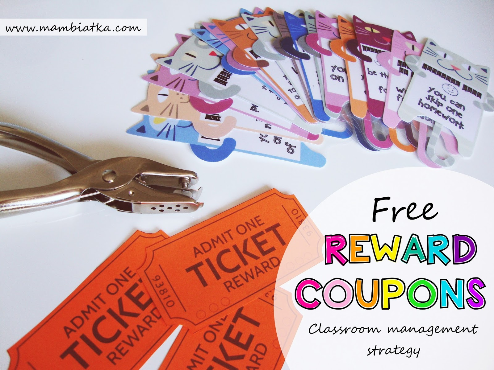 Free Reward Coupons Clroom Management Strategy Motivation