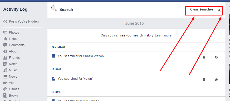 how to delete facebook search activity log | information technology