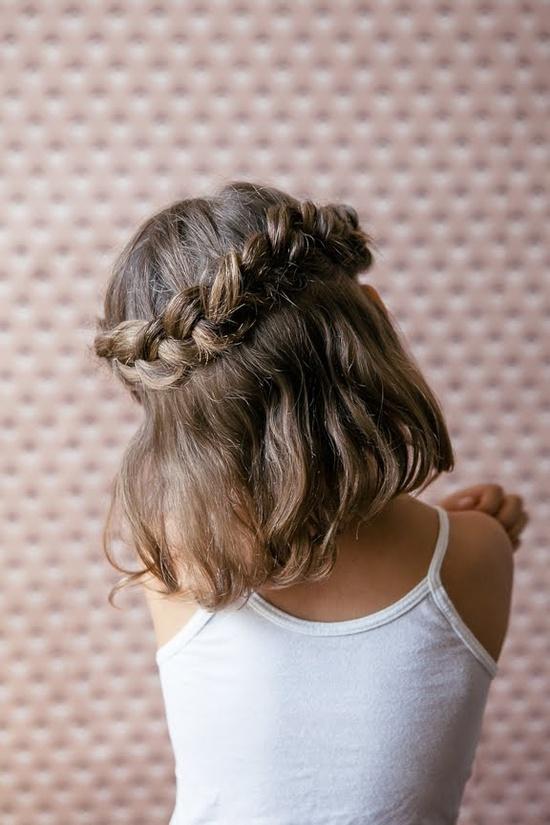 corona de trenza peinado fcil para nia