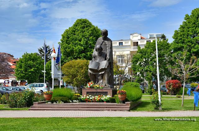 Monument Sts. Kiriil and Metodij, Ohrid, Macedonia