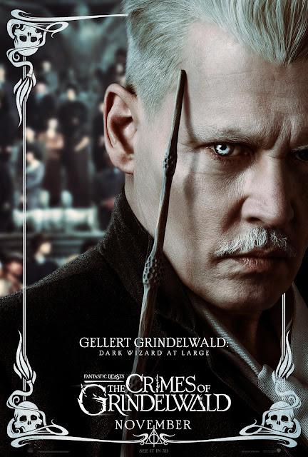 Pôsteres dos personagens de 'Os Crimes de Grindelwald' são divulgados | Gerardo Grindelwald | Ordem da Fênix Brasileira