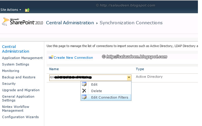 sharepoint user profile synchronization connection filter