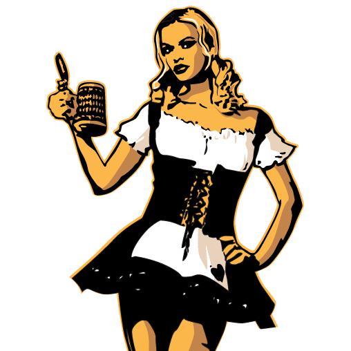 Camarera alemana de cerveza - Vector