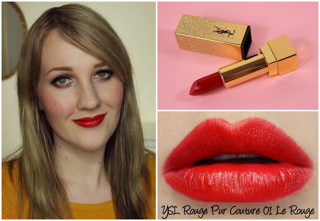 YSL Rouge Pur Couture 01 Le Rouge lipstick swatches & review