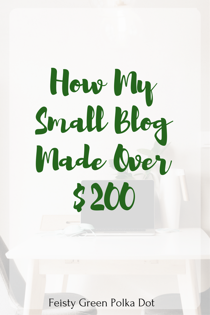 How My Small Blog Made Over $200 | Income and Traffic Report