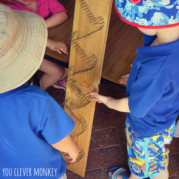 DIY Marble Run - make your own wooden marble run! Irresistible to children and adults alike and simple to make | you clever monkey